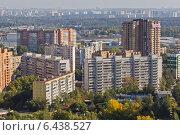 Купить «Город Одинцово - вид с высоты птичьего полета», фото № 6438527, снято 21 сентября 2014 г. (c) Sashenkov89 / Фотобанк Лори