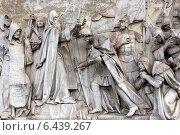 Уцелевшие мраморные горельефы с Храма Христа Спасителя 1847—1849 гг (2014 год). Стоковое фото, фотограф Жанна Кедрова / Фотобанк Лори