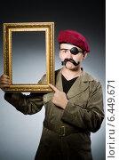 Купить «Funny soldier in military concept», фото № 6449671, снято 14 мая 2014 г. (c) Elnur / Фотобанк Лори