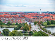 Купить «The bird's eye view from the Church of Our Saviour on the Knippel Bridge in Copenhagen.», фото № 6456503, снято 22 августа 2014 г. (c) Serg Zastavkin / Фотобанк Лори