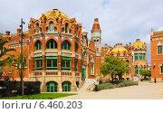 Купить «Hospital de la Santa Creu i Sant Pau in Barcelona», фото № 6460203, снято 13 сентября 2014 г. (c) Яков Филимонов / Фотобанк Лори