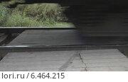Купить «Поезд. Железнодорожный переезд. Колеса вагонные.», видеоролик № 6464215, снято 14 сентября 2014 г. (c) Звездочка ясная / Фотобанк Лори