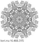 Купить «Круглый кружевной орнамент», иллюстрация № 6466315 (c) Олеся Каракоця / Фотобанк Лори