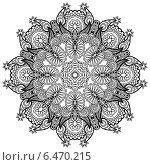 Купить «Круглый кружевной орнамент», иллюстрация № 6470215 (c) Олеся Каракоця / Фотобанк Лори