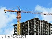 Купить «Строительство дома», фото № 6475971, снято 21 января 2014 г. (c) Сергей Трофименко / Фотобанк Лори