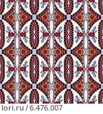 Купить «Бесшовный орнамент с цветочными элементами», иллюстрация № 6476007 (c) Олеся Каракоця / Фотобанк Лори