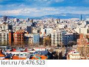 Купить «view of Barcelona city from Montjuic», фото № 6476523, снято 28 марта 2013 г. (c) Яков Филимонов / Фотобанк Лори