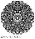 Купить «Круглый орнамент, имитирующий кружевную салфетку», иллюстрация № 6476615 (c) Олеся Каракоця / Фотобанк Лори