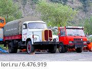 Купить «Грузовики Saurer и Reform», фото № 6476919, снято 5 августа 2014 г. (c) Art Konovalov / Фотобанк Лори