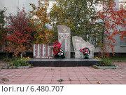 Купить «Памятник воинам Великой Отечественной войны в деревне Орудьево», фото № 6480707, снято 3 октября 2014 г. (c) Elizaveta Kharicheva / Фотобанк Лори