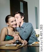 Купить «Young couple eating japanese food.», фото № 6491383, снято 29 февраля 2020 г. (c) BE&W Photo / Фотобанк Лори