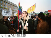 Купить «Marsz Rownosci (march of equality) in Posen (Poznan), Poland», фото № 6498135, снято 18 ноября 2006 г. (c) Caro Photoagency / Фотобанк Лори