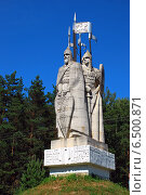 Купить «Монумент в память Великого стояния на реке Угре в 1480 году, Киевское шоссе, Калужская область», эксклюзивное фото № 6500871, снято 19 июля 2009 г. (c) lana1501 / Фотобанк Лори