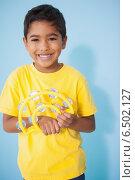 Купить «Cute little boy playing the tambourine in classroom», фото № 6502127, снято 15 мая 2014 г. (c) Wavebreak Media / Фотобанк Лори