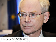 Купить «Herman van Rompuy», фото № 6510903, снято 10 декабря 2009 г. (c) Caro Photoagency / Фотобанк Лори