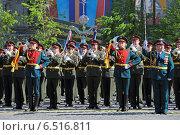 Купить «Празднование Дня Победы на Красной площади в Москве. Военный оркестр», фото № 6516811, снято 9 мая 2014 г. (c) Игорь Долгов / Фотобанк Лори