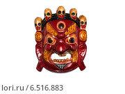 Маска красного демона-охранителя. Стоковое фото, фотограф Сергей Васильев / Фотобанк Лори