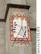 Купить «Астрологические часы на стене собора. Херренберг. Германия», фото № 6518415, снято 2 мая 2013 г. (c) Щелкотунова Любовь / Фотобанк Лори