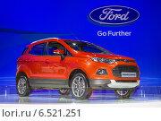 Купить «Ford EcoSport на Московском международном автосалоне 2014 года», фото № 6521251, снято 3 сентября 2014 г. (c) Алексей Назаров / Фотобанк Лори