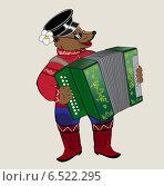 Купить «Медведь-музыкант», иллюстрация № 6522295 (c) Дмитрий Никитин / Фотобанк Лори