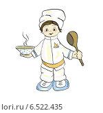 Маленький повар. Стоковая иллюстрация, иллюстратор ElenaGumerova / Фотобанк Лори