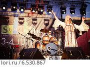 Купить «Выступление Пелагеи на фестивале Summertime-2009 в Санкт-Петербурге», эксклюзивное фото № 6530867, снято 3 июля 2009 г. (c) Ольга Визави / Фотобанк Лори