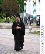 Купить «Священник в Лавре», эксклюзивное фото № 6533339, снято 7 июня 2009 г. (c) lana1501 / Фотобанк Лори