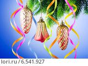 Купить «Christmas decoration on the fir tree», фото № 6541927, снято 2 сентября 2011 г. (c) Elnur / Фотобанк Лори
