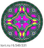 Купить «Декоративный круглый орнамент», иллюстрация № 6549531 (c) Олеся Каракоця / Фотобанк Лори