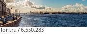 Санкт-Петербург, панорама Невы (2014 год). Редакционное фото, фотограф Анатолий Кузнецов / Фотобанк Лори