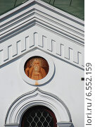 Купить «Фрагмент южного фасада церкви Иоанна Богослова в Преображенском Рязанском монастыре», эксклюзивное фото № 6552159, снято 23 апреля 2010 г. (c) lana1501 / Фотобанк Лори