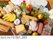 Купить «food purchases from supermarket», фото № 6561283, снято 10 ноября 2018 г. (c) Яков Филимонов / Фотобанк Лори