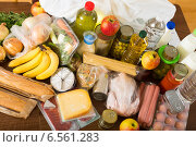 Купить «food purchases from supermarket», фото № 6561283, снято 21 августа 2018 г. (c) Яков Филимонов / Фотобанк Лори