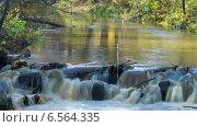 Купить «Каскад реки, таймлапс, длинная выдержка, отражение желтой листвы», видеоролик № 6564335, снято 20 октября 2014 г. (c) Кекяляйнен Андрей / Фотобанк Лори