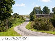 Эстония, дорога возле замка Вана-Вастселийна, фото № 6574051, снято 5 сентября 2014 г. (c) Борис Заманский / Фотобанк Лори