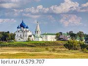Купить «Архитектурный комплекс Суздальского Кремля», фото № 6579707, снято 8 сентября 2014 г. (c) Сергей Лаврентьев / Фотобанк Лори