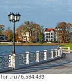 Купить «Красивый городской пейзаж, набережная. Калининград», эксклюзивное фото № 6584439, снято 19 октября 2014 г. (c) Svet / Фотобанк Лори