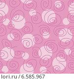 Купить «Розовый бесшовный фон с завитками», иллюстрация № 6585967 (c) Типляшина Евгения / Фотобанк Лори