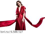 Female in a red dress. Стоковое фото, фотограф Александр Буц / Фотобанк Лори
