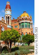 Купить «Hospital de la Santa Creu i Sant Pau in Barcelona», фото № 6595583, снято 13 сентября 2014 г. (c) Яков Филимонов / Фотобанк Лори