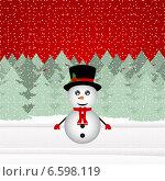 Купить «Снеговик в волшебном лесу», иллюстрация № 6598119 (c) Мастепанов Павел / Фотобанк Лори
