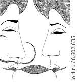 Поцелуй. Стоковая иллюстрация, иллюстратор Борисенко Анастасия / Фотобанк Лори