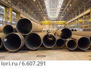 Купить «Склад готовой продукции внутри металлургического цеха», фото № 6607291, снято 3 апреля 2014 г. (c) Кекяляйнен Андрей / Фотобанк Лори