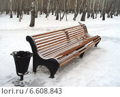 Зимняя скамейка. Стоковое фото, фотограф Екатерина Пономарева / Фотобанк Лори