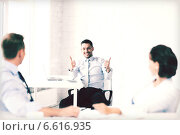 Купить «businessman showing thumbs up in office», фото № 6616935, снято 9 июня 2013 г. (c) Syda Productions / Фотобанк Лори