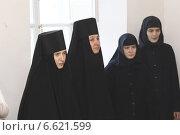 Купить «Монахини на богослужении», эксклюзивное фото № 6621599, снято 2 ноября 2014 г. (c) Дмитрий Неумоин / Фотобанк Лори