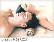 Купить «couple in spa», фото № 6627227, снято 4 мая 2013 г. (c) Syda Productions / Фотобанк Лори