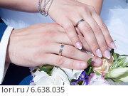 Руки невесты и жениха, маникюр. Стоковое фото, фотограф Александра Орехова / Фотобанк Лори
