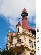 Фрагмент здания в стиле модерн. Рига, Латвия (2014 год). Стоковое фото, фотограф Юлия Бабкина / Фотобанк Лори