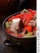 Рагу с мясом и овощами. Стоковое фото, фотограф Андрей Оршак / Фотобанк Лори